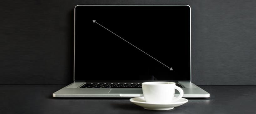 przekątna ekranu w laptopie