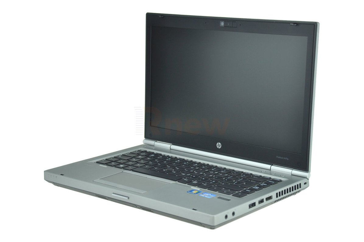 "HP EliteBook 8470p Intel Core i5-3320M 2.60 GHz 8 GB 120 GB SSD 14"" Win 7 Pro A 13"