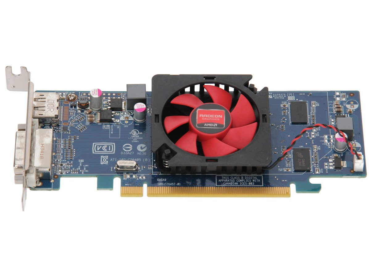 Karta graficzna AMD Radeon HD 6450 1GB DVI DisplayPort LOW PROFILE 109-C26457-00