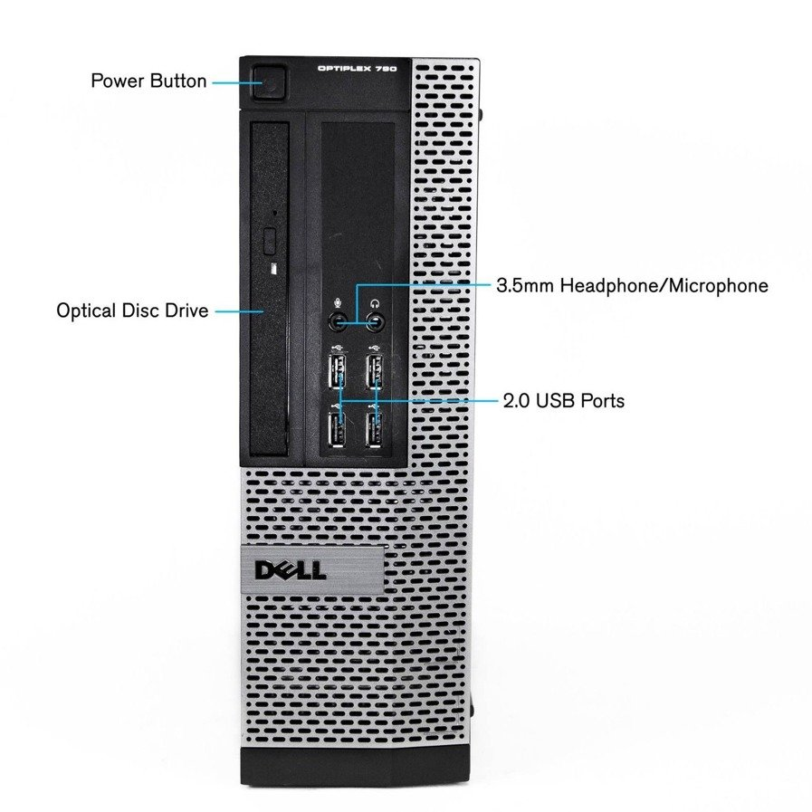 PC Dell OptiPlex 790 SFF i5-2400 4 GB 250 HDD W7Home A-