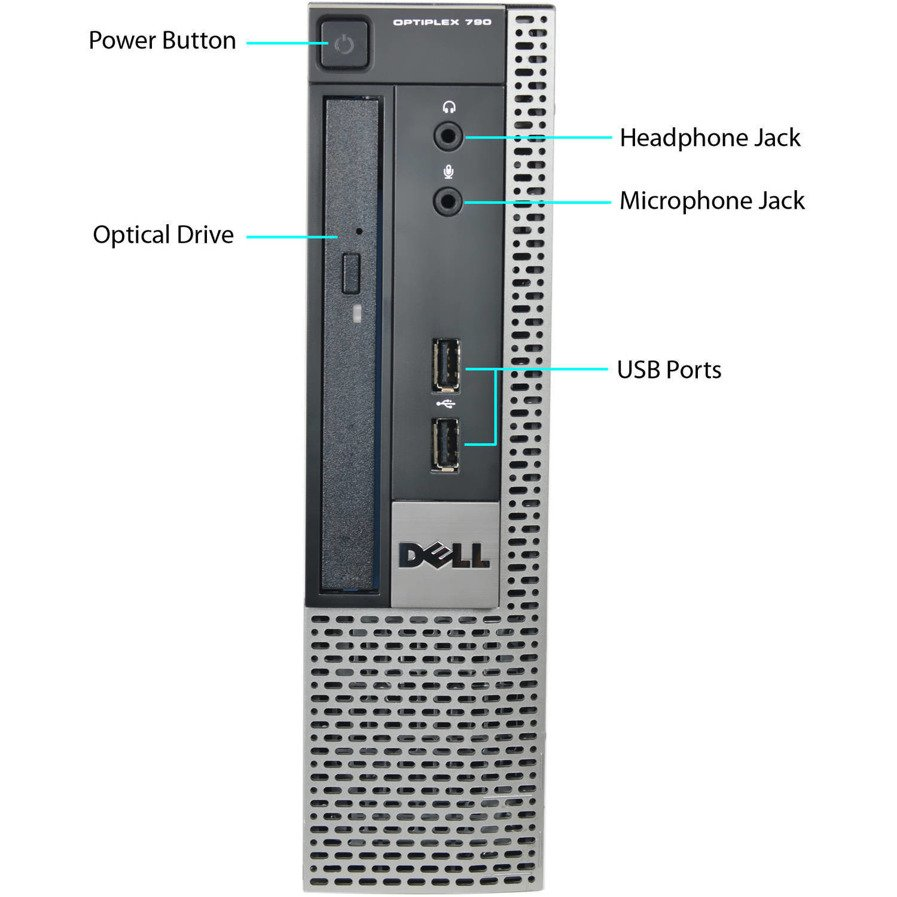 PC Dell OptiPlex 790 USFF i3-2120 4 GB 250 HDD W7Pro A